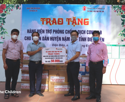 SAVE THE CHILDREN'S SUPPORT FOR COVID-19 AFFECTED CHILDREN IN QUARANTINE CENTERS IN DIEN BIEN